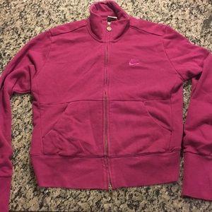 Nike full zip-up pink jacket